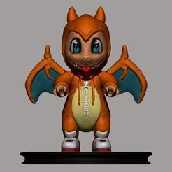 CHARMANDER COLOR only.jpg Download OBJ file Charmander Onesie Costume  • 3D printer object, MNX182