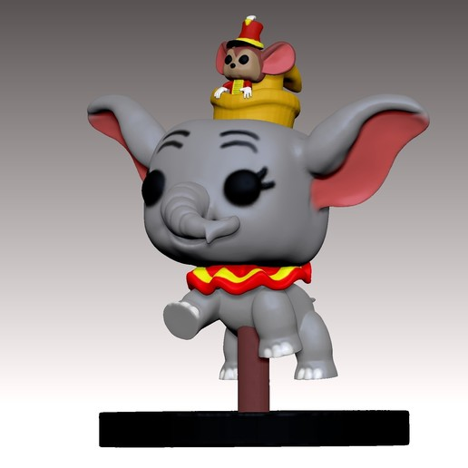 Download STL files Dumbo PopFunko flying 3D print model, MNX182