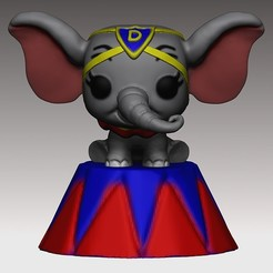 Download 3D printing designs Dumbo PopFunko Circus 3D print model, MNX182