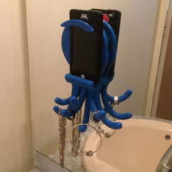 Free 3D printer designs Popi the Octopus, phone and jewelry holder, OlivierMrl