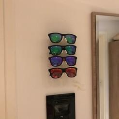Descargar modelo 3D 4 Fach Brillen Wandhalterung / Gafas de montaje en la pared, MacDeal