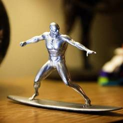 Download 3D printer files Silver Surfer, Taran3D