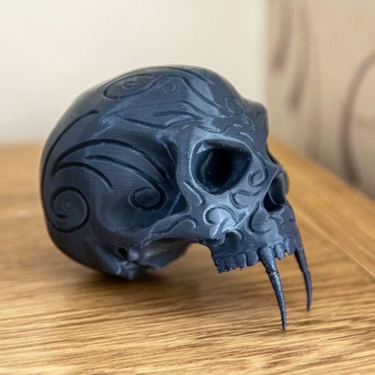 taran3d_50107740_101658967596034_6582338439086292900_n (1).jpg Download free STL file Tribal Sabre Tooth Skull • Model to 3D print, Taran3D
