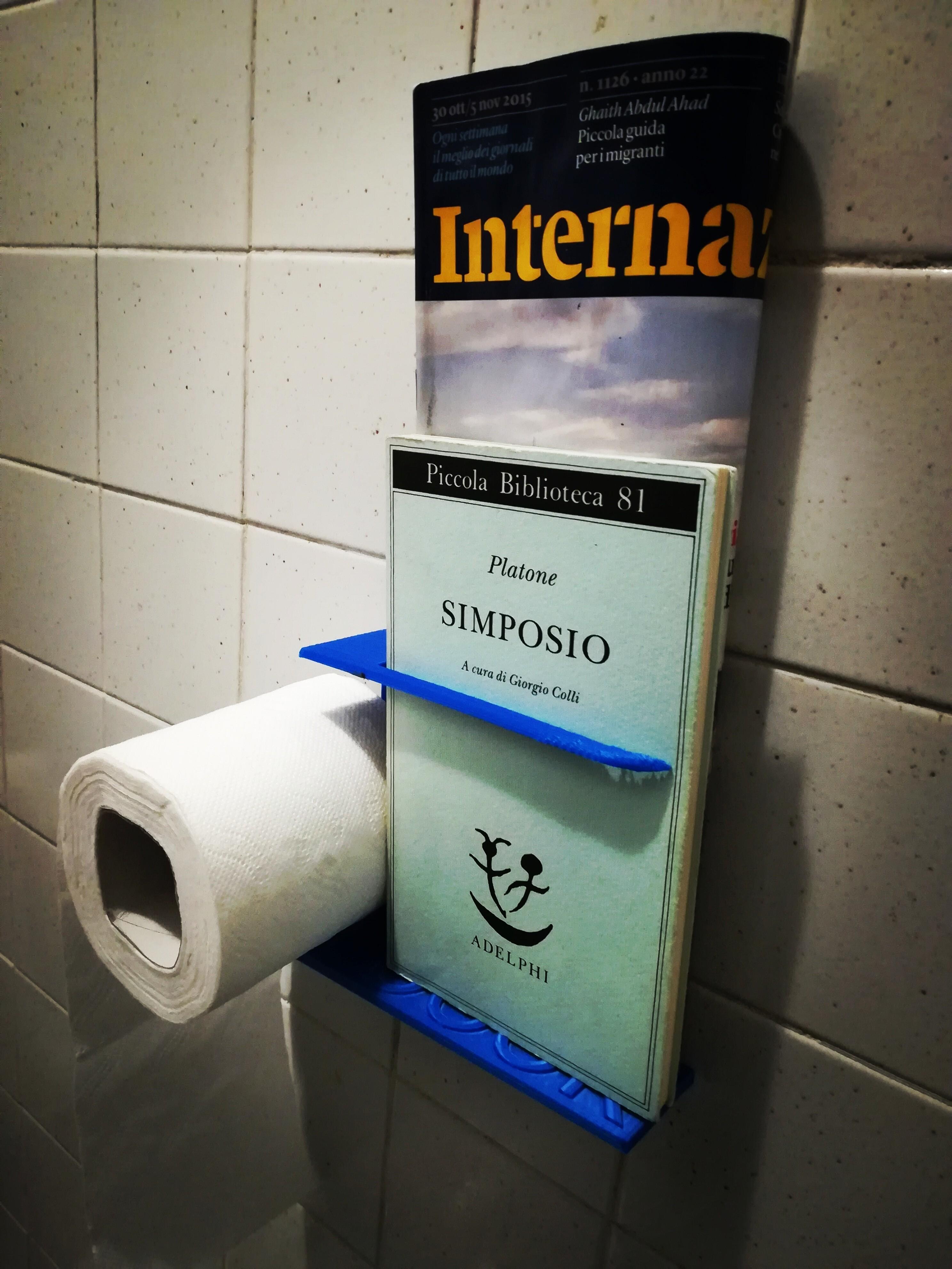 IMG_20171123_150545.jpg Télécharger fichier STL gratuit Papier toilette et porte-livre • Objet pour imprimante 3D, Alighieri