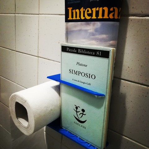 Download free STL files Toilet Paper and Book Holder, Alighieri