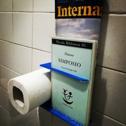 Free STL file Toilet Paper and Book Holder, Alighieri
