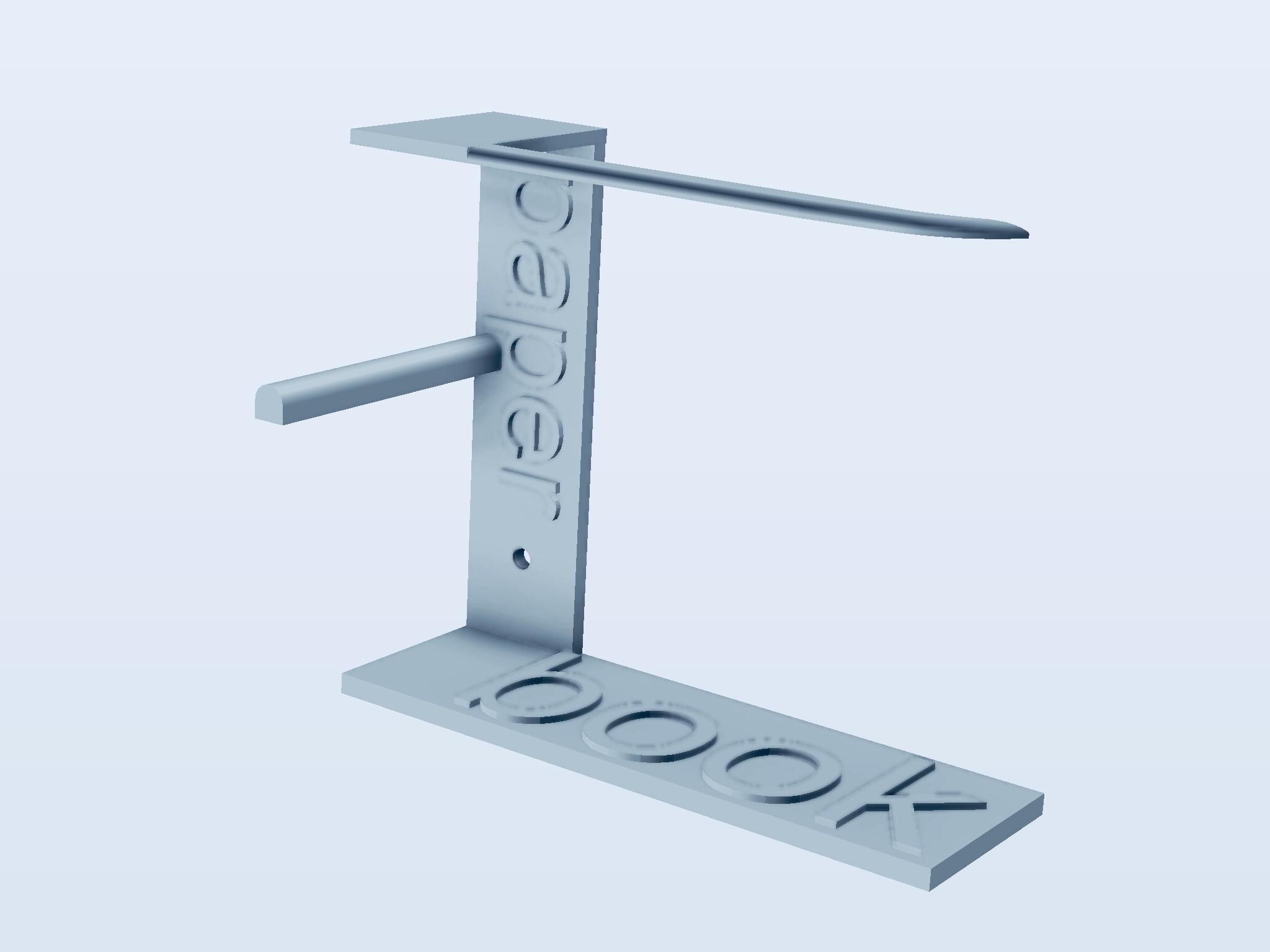 PaperBook.jpg Télécharger fichier STL gratuit Papier toilette et porte-livre • Objet pour imprimante 3D, Alighieri
