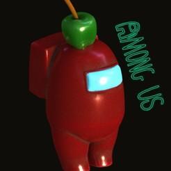 Download STL file AMONG US manzana • Model to 3D print, zaider