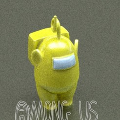 Download STL file AMONG US teletubbies Laa-Laa • 3D print object, zaider