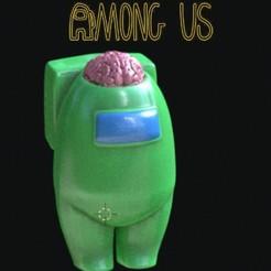 Download STL file AMONG US brain • 3D printer design, zaider