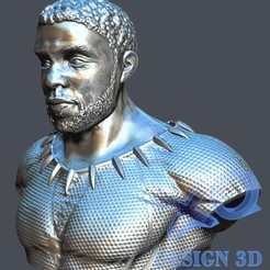 Descargar archivo STL Chadwick Boseman BlackPanther • Modelo imprimible en 3D, zaider