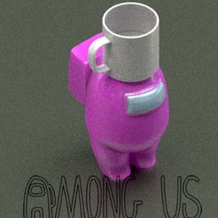 Download STL file AMONG US Cup • 3D printable object, zaider