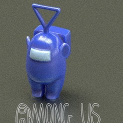 Download STL file AMONG US teletubbies Tinky Winky • Object to 3D print, zaider