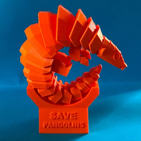 Free 3D printer file Save pangolins, Microquant