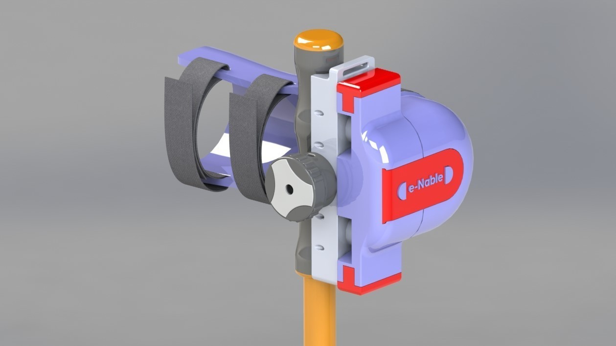 Vue d'ensemble prothèse.JPG Download free STL file Ratchet clamping system • Object to 3D print, Younes