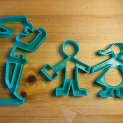 Download free 3D printer designs Witch cookie cutter (feat Hänsel & Gretel), unwohlpol