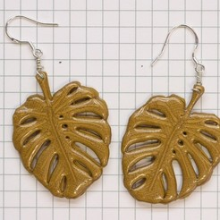 Download free 3D printer templates leaf earrings, unwohlpol