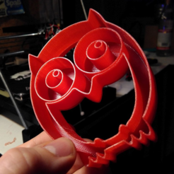 Free stl files Owl cookie cutter, unwohlpol