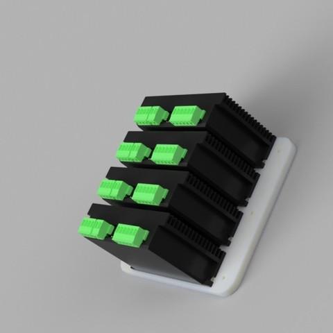 Free 3D print files m542h stepper driver rack., Einarsen3d