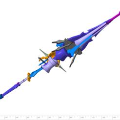 1.png Download STL file FFXV Aranea Highwind Polearm • 3D printing template, HaereticusProps
