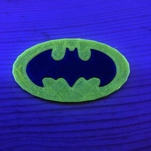 Free 3D printer files Batman logo, Jean-Donald