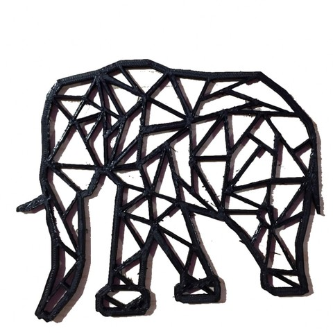 Download free 3D printer templates Elephant origami, Jean-Donald