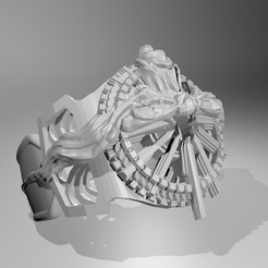 Download free 3D printing templates final fantasy 15 noctis ring of the lucii, OddWorks