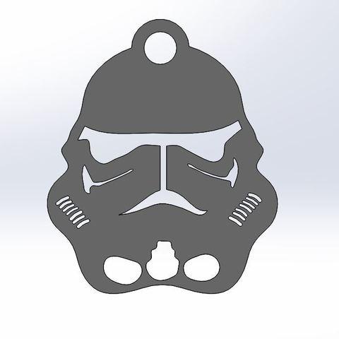 Impresiones 3D gratis El llavero de los soldados de la Guerra de las Galaxias, nico84500