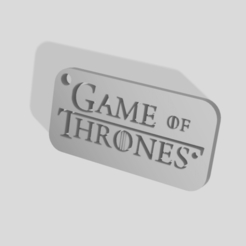 Game of thrones keychain v2.png Télécharger fichier STL Game of thrones keychain • Objet imprimable en 3D, nico84500