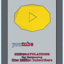 3D printing model youtube trophy, Jerome15