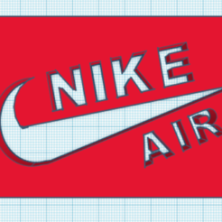 Download 3D printing designs nike air key chain, Jerome15