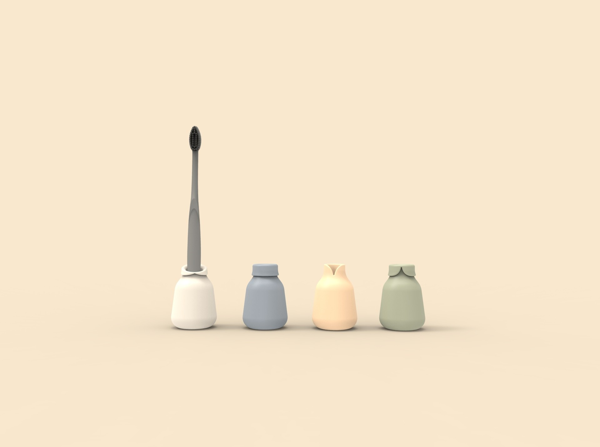 cols.385.jpg Télécharger fichier STL gratuit Portes brosse à dents personnalisables Famille • Plan à imprimer en 3D, clemgerm