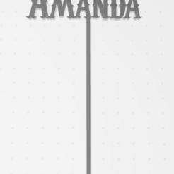 Download 3D printing files Topper Amanda, Lmyvgta