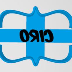 vntage ciro.PNG Download STL file Vintage frame with CIRO name • 3D printer template, Lmyvgta