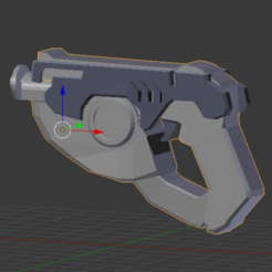 modelos 3d gratis Overwatch: lowpoly pistola Tracer, Tarditar