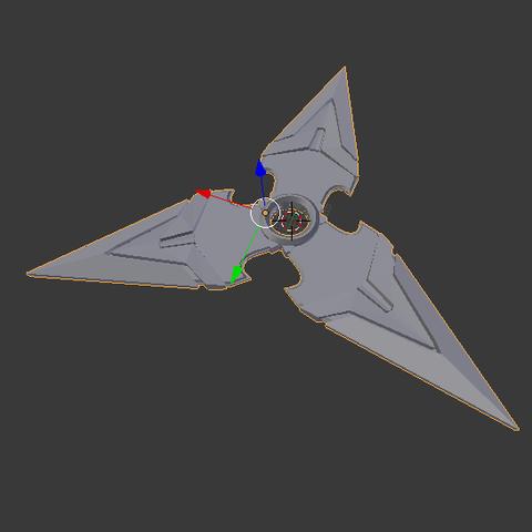 Download free STL file Genji's Shuriken overwatch • 3D printer template, Tarditar