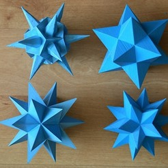 Free 3D print files stellations of the dodecahedron -starred dodecahedra, brico18