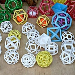 polyedres1.jpg Download free STL file various polyhedra • 3D printing object, brico18