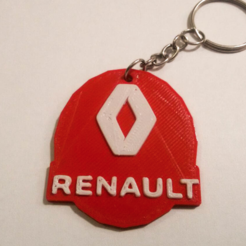 Free 3d printer designs Renault keychain, facuu