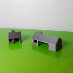 Free 3D printer files  Mini houses, facuu