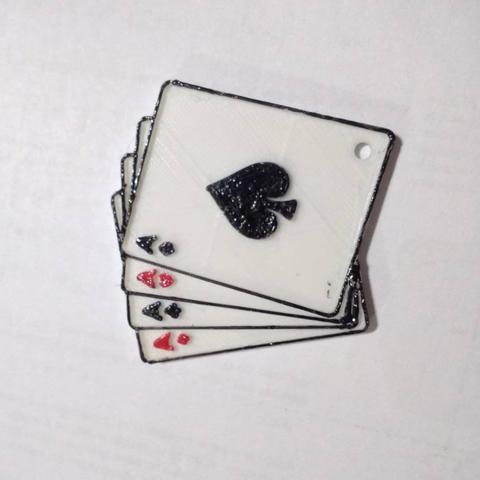 Capture d'écran 2017-09-14 à 12.22.50.png Download free STL file 4 cards/aces keychain • Model to 3D print, facuu