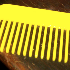 Free 3d printer model Hair/Beard comb, facuu