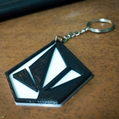 Free 3d printer files Volcom keychain, facuu