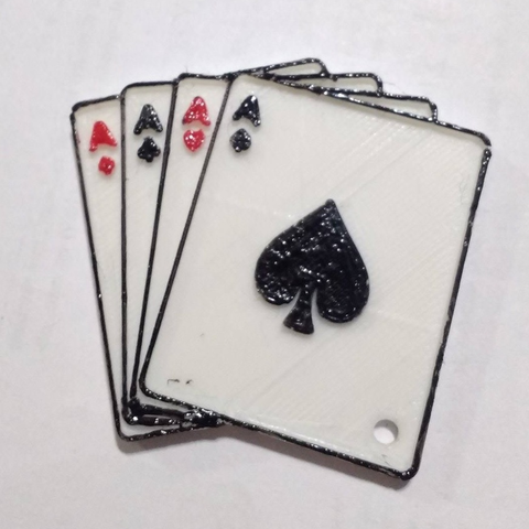 Free 3D model 4 cards/aces keychain, facuu