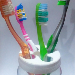 Free 3d print files Adaptable toothbrush holder, facuu