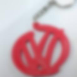 Download free 3D printer files volkswagen greatest keychain, facuu
