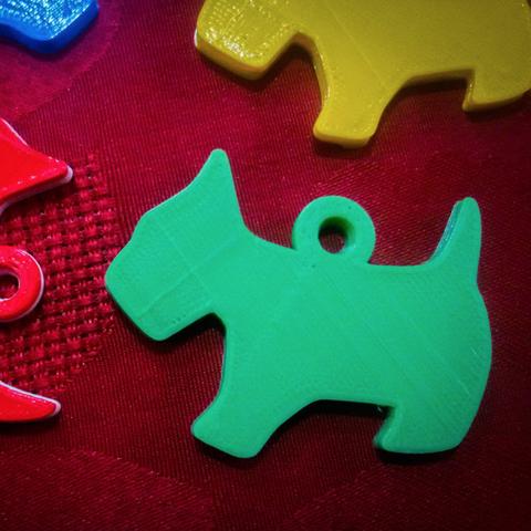 Modelos 3D gratis Llavero lindo del perro, facuu