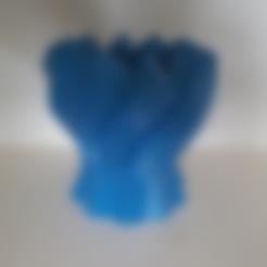 Download free 3D printer designs Twisted Hexagon Colum pot/vase 2, Job
