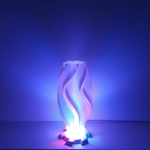 Capture d'écran 2018-05-21 à 15.49.33.png Download free STL file Golden Wave Lamp • 3D printing model, Job