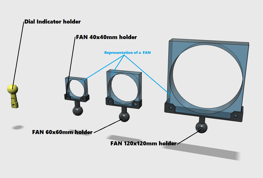 fan holder.png Télécharger fichier STL Bras universel • Design pour imprimante 3D, Job